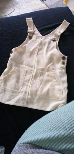 Girls Sleeveless Corduroy Overalls photo review
