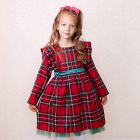 Plain Christmas Green Dress For Girls photo review