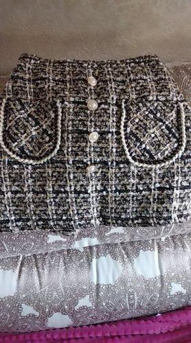 Girls Elegant  Plaid Skirt photo review